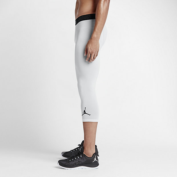 Jordan AJ All Season Compression Three-Quarter Men's Training Tights.