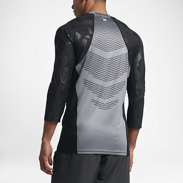 Nike Pro HyperCool Men's 3/4 Sleeve Baseball Top.